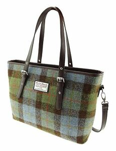 Tweed Check Lb1028 Harris Spey Green Bag Tote Ladies Col15 ny80wvmNO