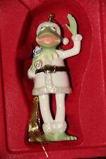 Lenox Porcelain SANTA KERMIT The Frog Christmas Ornament W/Box
