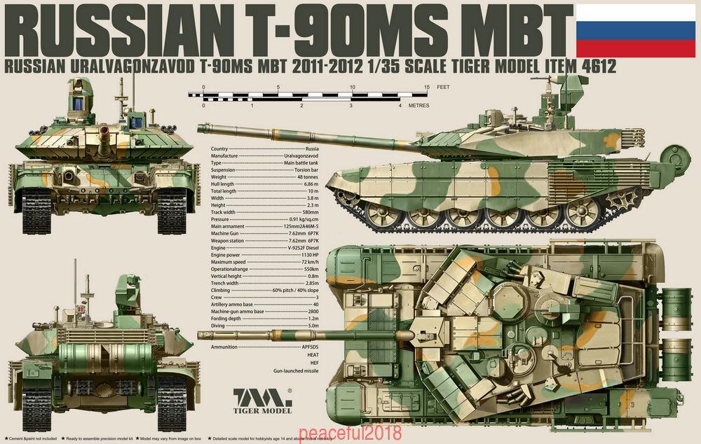 Tiger Model 1 35 4612  Russian T-90MS Main Battle Tank (2011-2012)