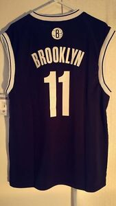 low priced 8583d f2379 Details about Adidas NBA Jersey Brooklyn Nets Brook Lopez Black Nickname sz  L