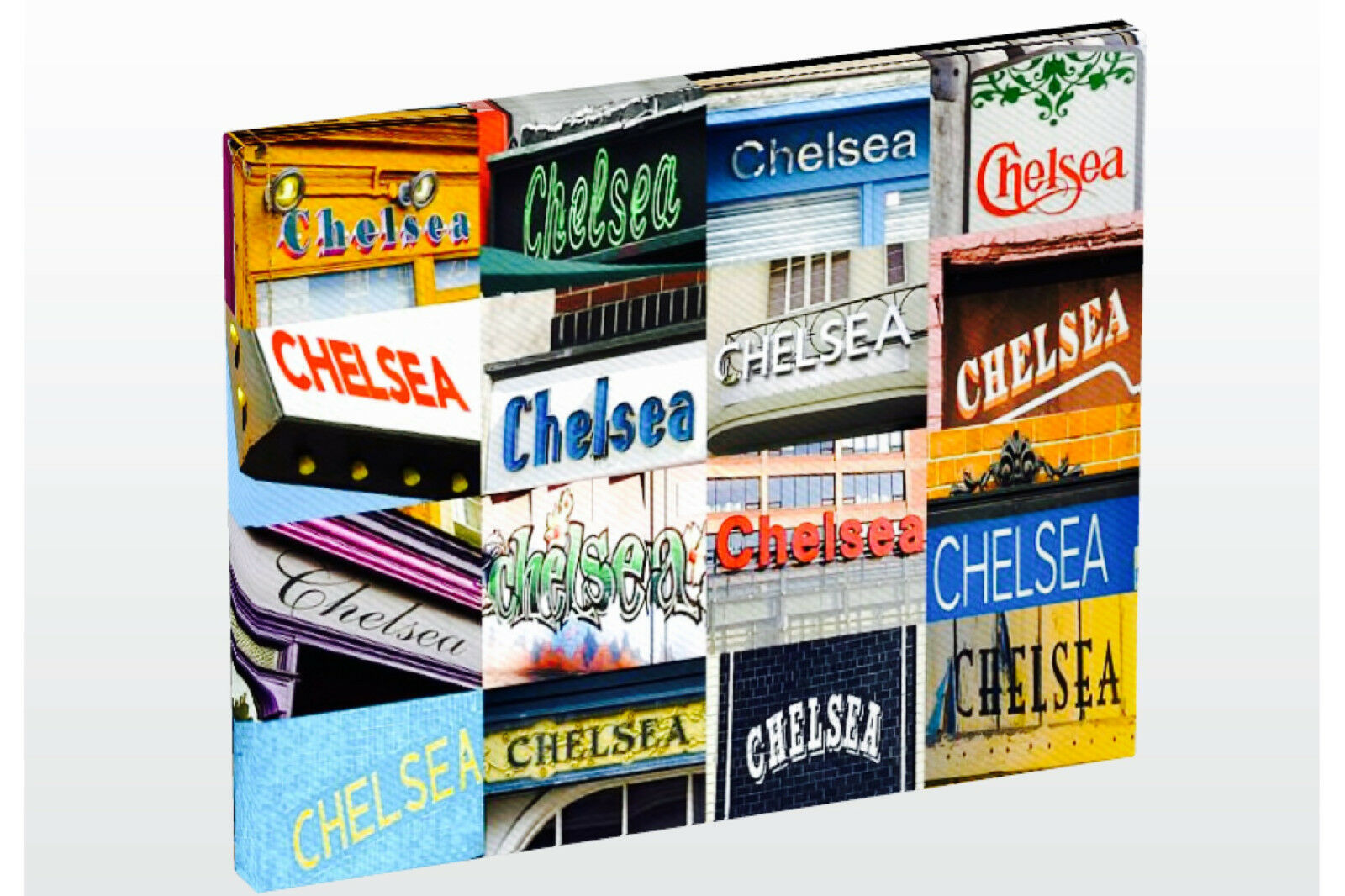 Personalized Photo Canvas featuring CHELSEA in photos of signs