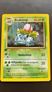 Pokemon 1. Edition   BISAFLOR   GEM MINT   German Base Set   1999