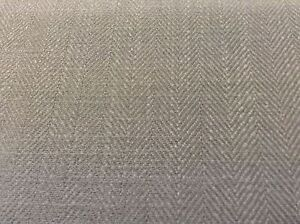French Vintage Herringbone Linen Dark Grey Curtain Craft