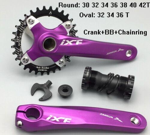 Crankset crank arm 170mm BB Single Chainring 30 32 34 36 38 40 42T MTB XC bike