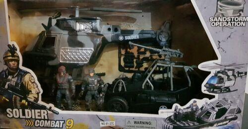 ARMY base combat squad soldat Hélicoptère d/'attaque base militaire pour Childrens Jouet