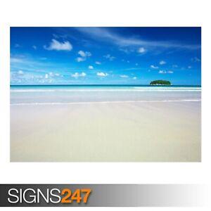 HD-SKY-BLUE-BEACH-3273-Beach-Poster-Picture-Poster-Print-Art-A0-A1-A2-A3-A4