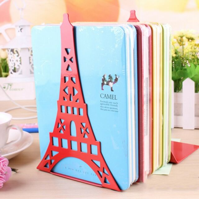 L-Shaped nti-skid Bookends Ends Shelf Bookend Magazine Stands Eiffel Tower !