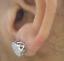 Deal-1-05-CT-Natural-Diamond-Cluster-Halo-Stud-Earrings-14K-White-Gold-9-5-MM thumbnail 3