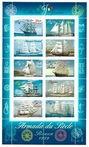 Bloc-Feuillet-1999-N-25-Timbres-France-Collection-Jeunesse-Armada-du-Siecle