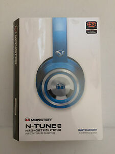 NEW-Monster-NTune-HD-On-Ear-Headphones-Noise-Isolating-ControlTalk-Blueberry
