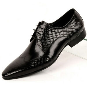 us5 10 luxury top leather pointy toe formal dress shoes