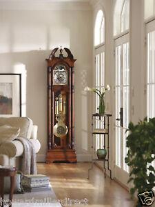 Howard-Miller-611-084-Ramsey-Traditional-Cherry-Grandfather-Floor-Clock