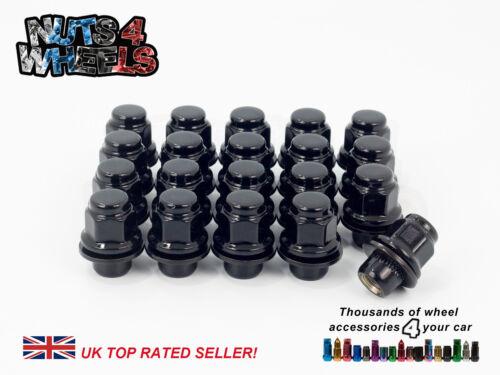 20 x Black Flat Seat OEM Alloy Wheel Nuts fits Mitsubishi EVO 6 7 8 9 10