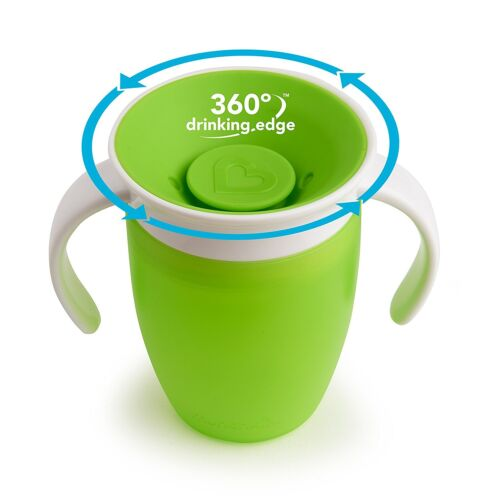 207 ml Munchkin Miracle 360 Degree Trainer//Sippy Cup Blue /& Pink,Green,orange