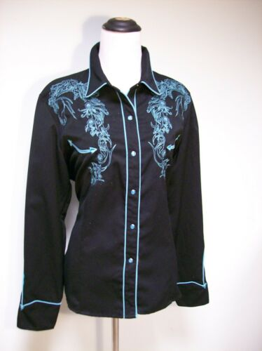 Womens Scully Western Cowgirl Shirt with Embroider