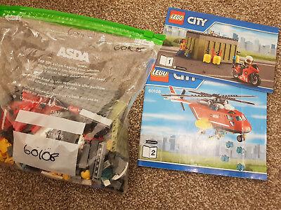 Razionale Lego City Town 60108 Fire Response Unità Completa Vigile Del Fuoco Pilota Elicottero-mostra Il Titolo Originale