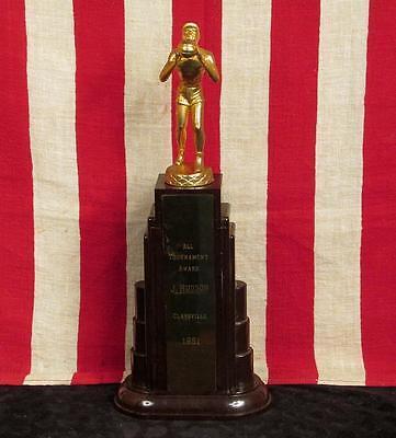 "Vintage Anni '50 Pallacanestro Torneo Trofeo Claysville H.s.bachelite 14 "" J. Fan Apparel & Souvenirs"