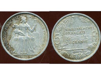 Oceanie 5 Francs 1952 ( 1 ) ( Bis ) Elegant In Stijl