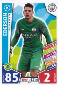 Topps Match Attax Ligue des Champions CARTE Nº 146 EDERSON Manchester City