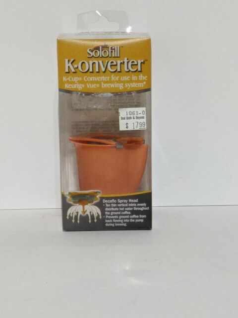 Solofill Converter Cups for Keurig Vue Brewer Systems Easy Clean