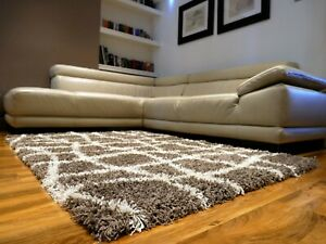 Small-Medium-Large-Non-Shed-Shaggy-Rugs-5cm-Pile-Modern-Rugs-different-Sizes