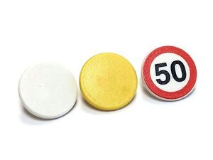 Choose Color /& Quantity Road Sign Clip-on 2 x 2 Round 30261 Lego