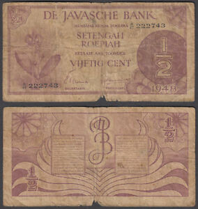 P 119 b  Uncirculated Banknotes 1 Cent 1942 NETHERLANDS  INDIES