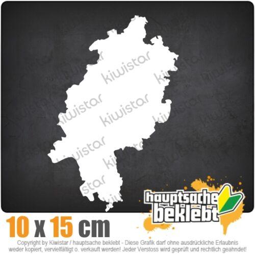KIWISTAR Hessen Deutschland Silhouette csf0942 10 x 15 cm Aufkleber