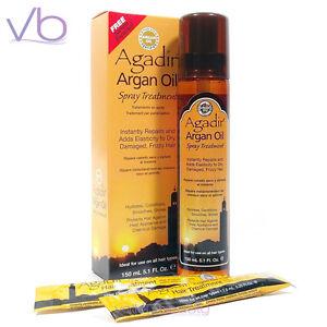 agadir argan oil spray treatment 150ml for frizzy damaged