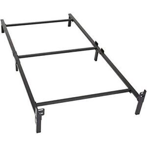 Twin Bed Frame Metal Construction 6 Leg Support For Box Spring And
