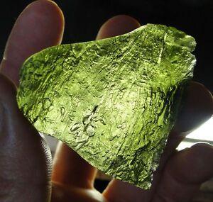 127ct-25-5grams-Green-Tektite-MOLDAVITE-XL-amp-Flat-Czech-Republic-Chlum