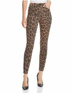 Joes Jeans The Charlie Leopard High Rise Skinny Ankle Jeans Size 29 6 8 198 Ebay