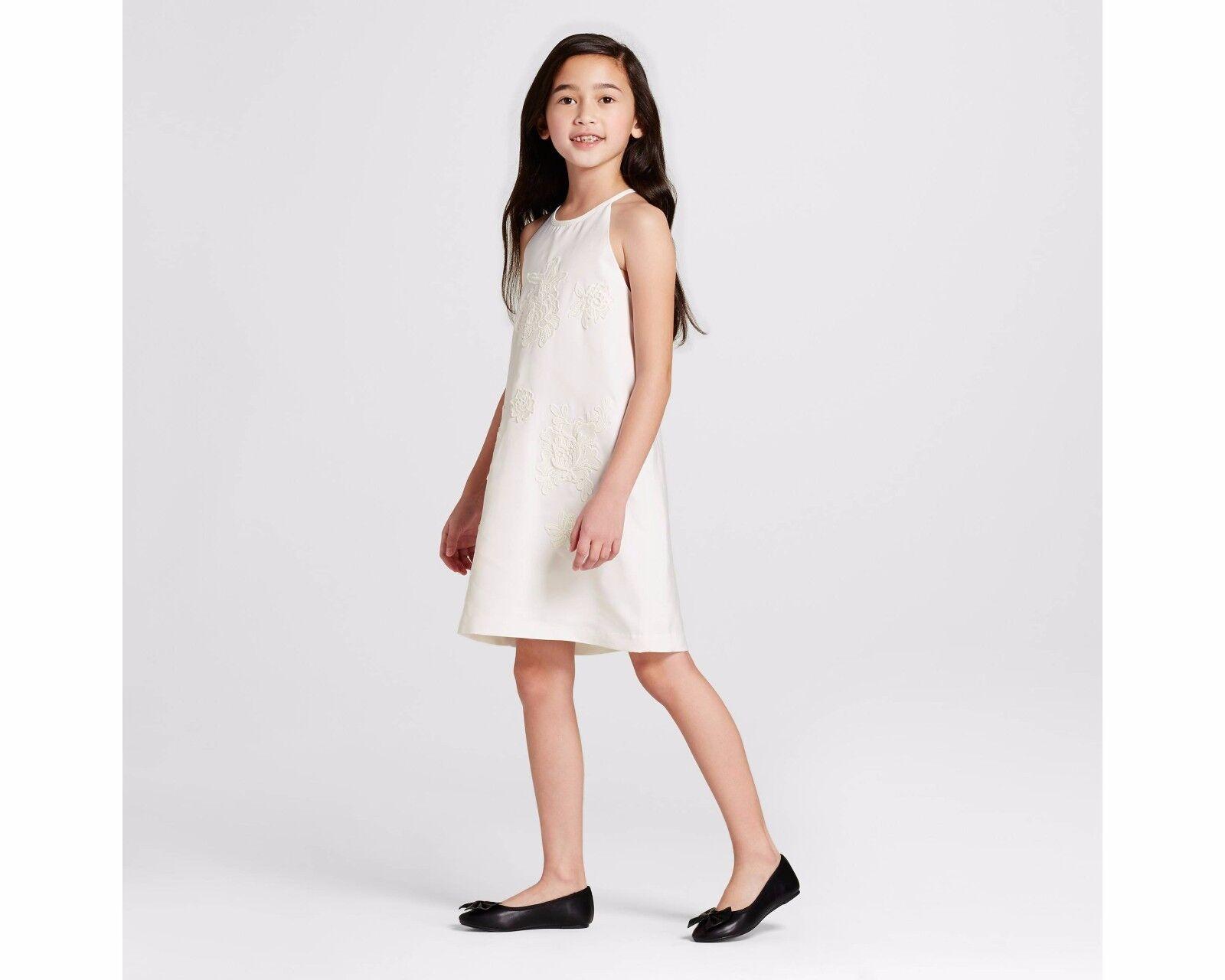 Victoria beckham for target white high neck floral appliqué dress