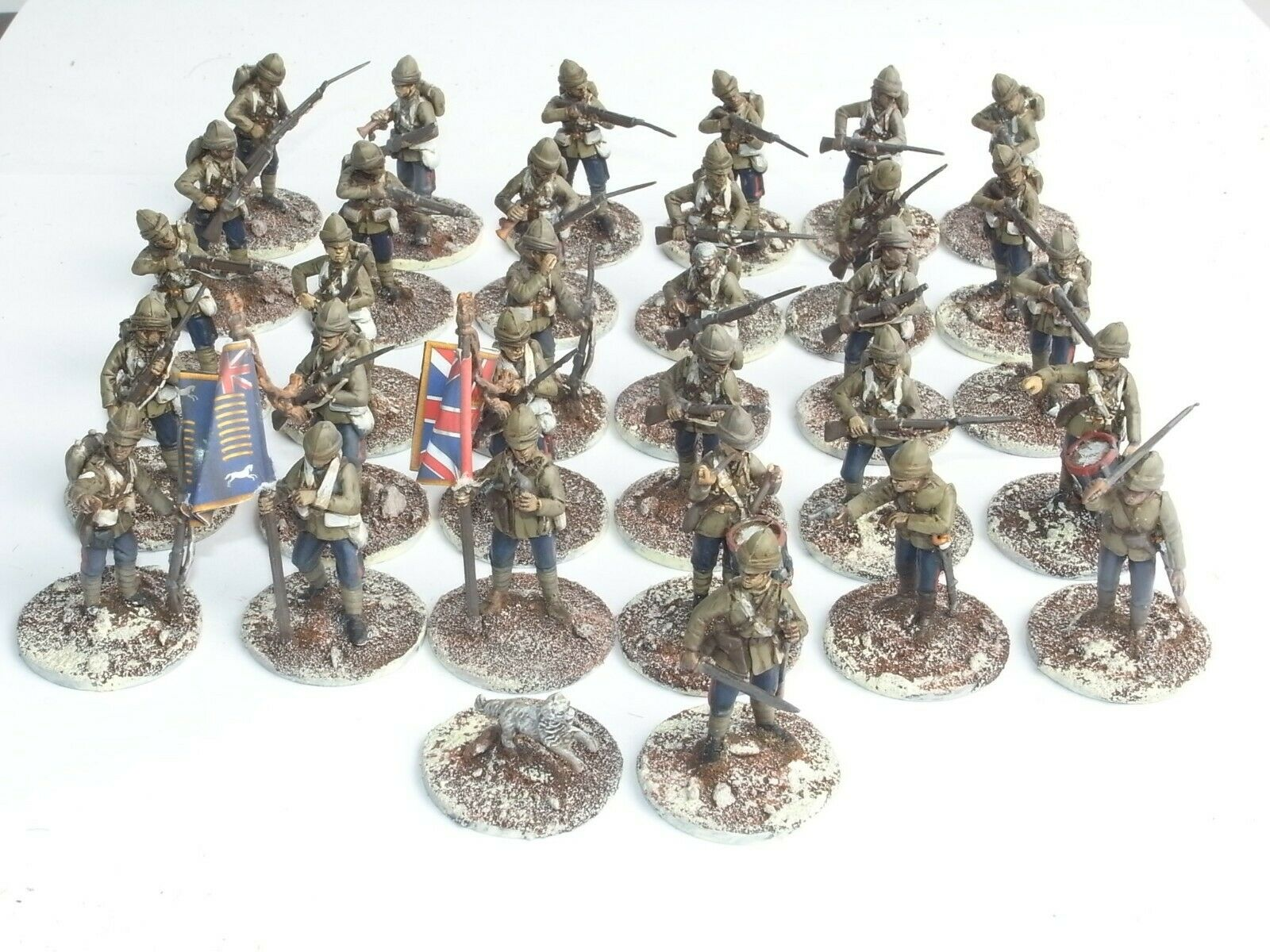 BRITISH ARMY IN SUDAN INFANTRY X 31. PAINTED. GREY 768