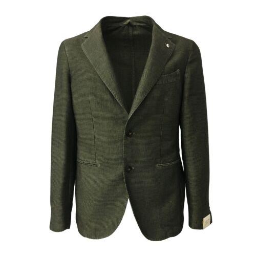 Sfoderata Verde 1911 b 60 De L Poule Lino Uomo Cotone Pied Giacca m 2875 40 nzXxxwHB