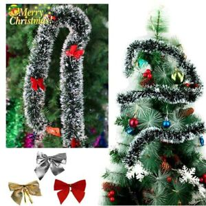 Luxury Chunky Thick Xmas Tinsel Garland Tree Home Christmas Party Decorations US