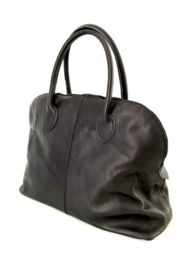 Donna Pelle Tote Handbag Vera Borsa Bauletto black Nero LUzqMVGpjS