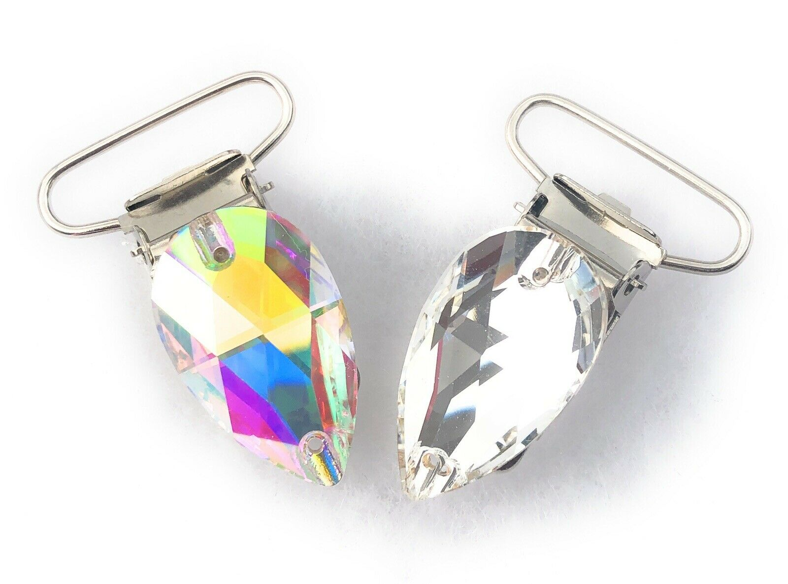 AB and Clear Crystal Pear Irish Dance Number Clips