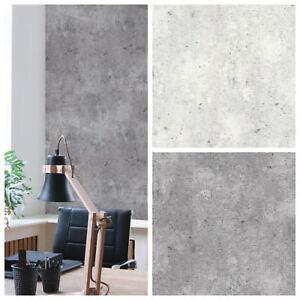 vliestapete beton optik hell grau grau betontapete industrial loft stein wand ebay. Black Bedroom Furniture Sets. Home Design Ideas