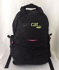 "Puma Procat Backpack Travel Laptop Book Bag School 12""X17"" Carry On Black & Pink"