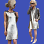 ZARA-Metallic-Silver-Sequinned-Party-Midi-Dress-Woman-Authentic-BNWT-M-0787-225 thumbnail 3