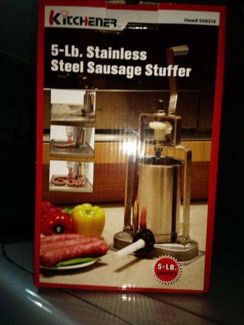 Kitchener 5 lb stainless steel sausage stuffer