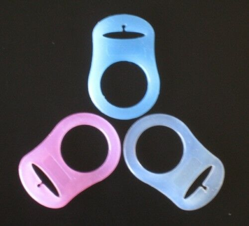 1 RING FOR MAM NUK NUBY PACIFIER HOLDER PINK BLUE CLEAR