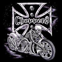 Chopper Iron Cross Skull Skeleton Biker Work Shirt Dickies Button Up Garage