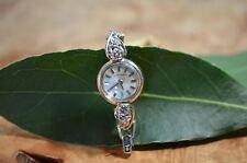 ART DECO Antique Longines Lady's Watch 14k White Gold 1/3 ct Diamonds-RUNS!