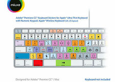 Adobe Premiere Pro CC Keyboard Stickers | Mac | QWERTY UK, US
