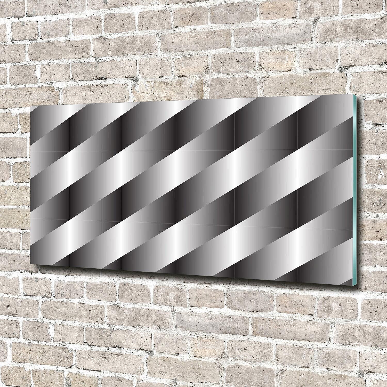 Glas-Bild Wandbilder Druck auf Glas 140x70 Deko Kunst Abstrakte Streifen