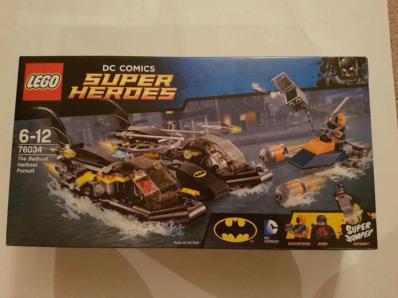 LEGO DC COMICS SUPER HEROES-LA batboat Harbour Pursuit (76034) - Nuovo di Zecca