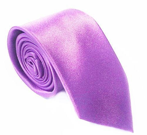 Slim corbata lilas lila Edel satén corbata fina corbata lilas lila