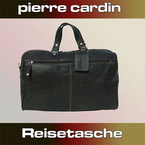 sale online good selling factory outlet Details zu Pierre Cardin Reisetasche Braun Tasche Leder Business